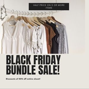 Tops - Black Friday Sale half price on 3 or more items